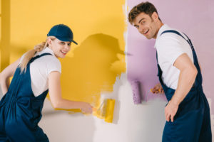How To Paint a Room Divided by a Wall, in Two Different Colors